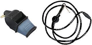 Fox 40 Sonik Blast CMG Whistle with Lanyard, Black