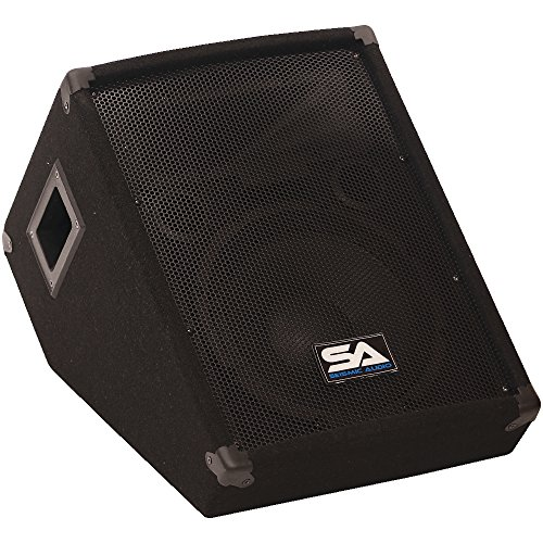 Seismic Audio – sa-10mtsingle – 25,4 cm Boden/Stage Monitor Keil Stil mit Titan Horn