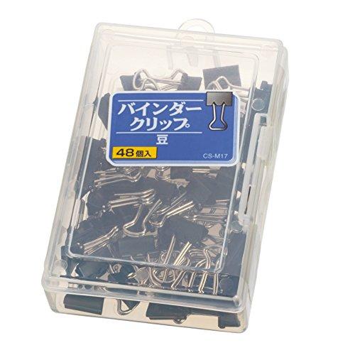 ライオン事務器 バインダークリップ 豆 CS-M17 48個