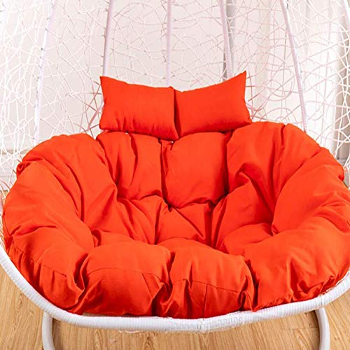 HUHUA Hanging Basket Chair Cushions With Double Pillow Chair Cushions Round For Balcony Egg Hammock Chair Cushion For Indoor Outdoor (no chair)