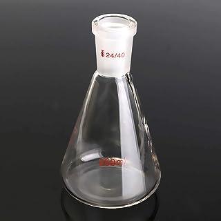 OKIl 250ml 24/40 Glass Erlenmeyer Flask Chemistry Conical Bottle Laboratory Glassware