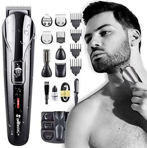 6 in 1 Haarschneider Bartschneider für Männer Professionelle Haarschneider Nasenhaarschneider, multifunktionale Präzisionsschneider, batteriebetrieben und elektrisch, wasserdicht