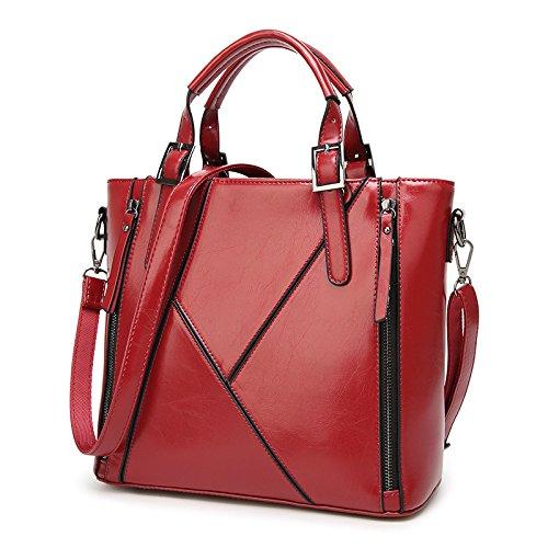 FACAI Diagonale Cross-Hand-Lammschulter-Anti-Diebstahl-Trendtasche Für Damen,Red
