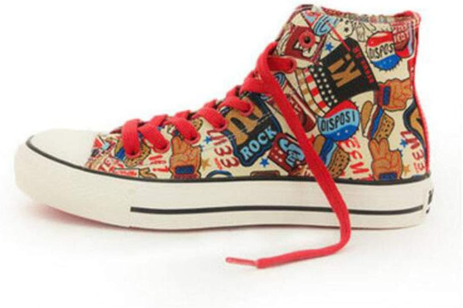 FH High-top Canvas shoes Harajuku Students Wild Graffiti Port Wind shoes