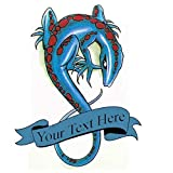 Custom lizard temporary tattoo | Fake removable customized salamander tattoos design | Add text to temp tatoo. Gecko lizards Sticker designs last 2-5 days & decals go on with water. Personalized decal