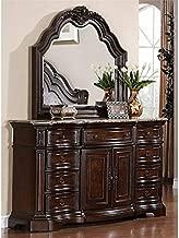 Samuel Lawrence Edington 9 Drawer Dresser with Mirror in Brown