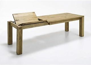 Elfo Table de salle à manger en chêne sauvage huilé 90 x 180-250 cm