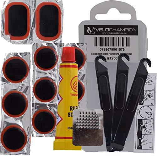 VeloChampion Puncture Repair Kit - Glue or Glueless Options - Suitable...
