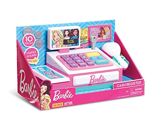 Grandi Giochi - Piccolo Registratore di Cassa Barbie Gioco, BAR36000
