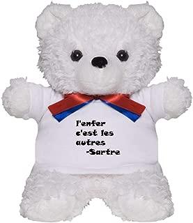 CafePress L'enfer C'est Les Autres Teddy Bear, Plush Stuffed Animal