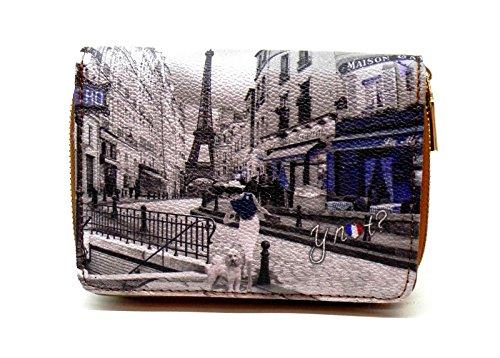YNot? Wallet medium zip METRO PARISIENNE Geldbörse G-362 MP