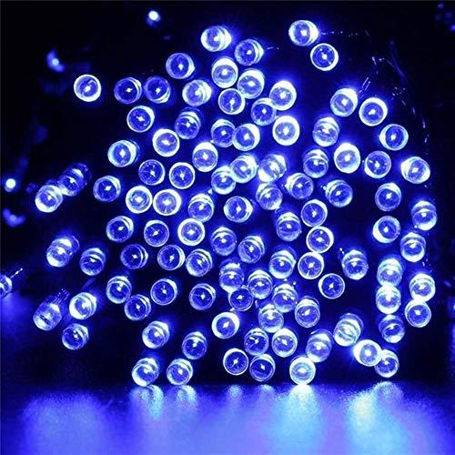 Haute qualité LED solaire Guirlande lumineuse chaîne énergie solaire étanche lumière extérieure Jardin LED Décoration de vacances durable ( Emitting Color : Blue , Wattage : 22M 200LED )