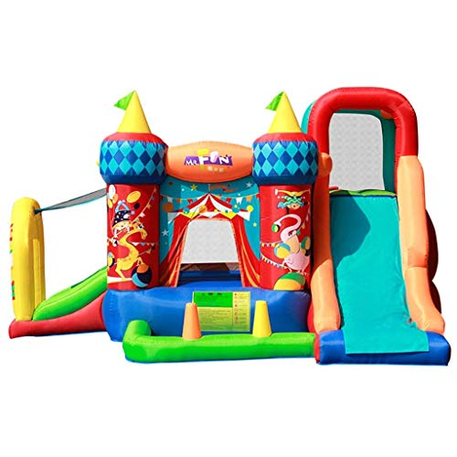 WYJW Hüpfburgen Kinder Hüpfburgen Kinder Aufblasbare Rutsche Kinderspielplatz im Freien Startseite Aufblasbares Spielzeug Kindergarten Trampolin