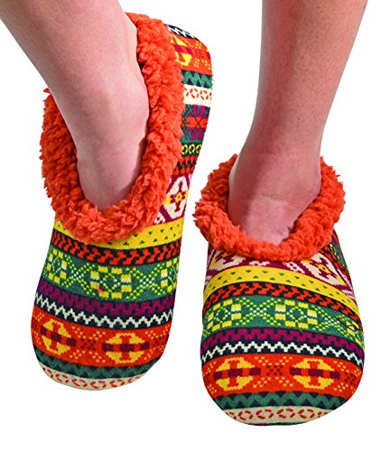 Snoozies Womens Comfy Soft Nordic Knit Fleece Slipper Socks