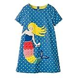 VIKITA Mädchen Blumen Langarm Baumwolle Kleid EINWEG SMK666 8T