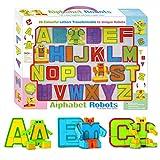 AimdonR Lot de 26 Lettres anglaises pour Robot de déformation de l'alphabet transformations de l'alphabet
