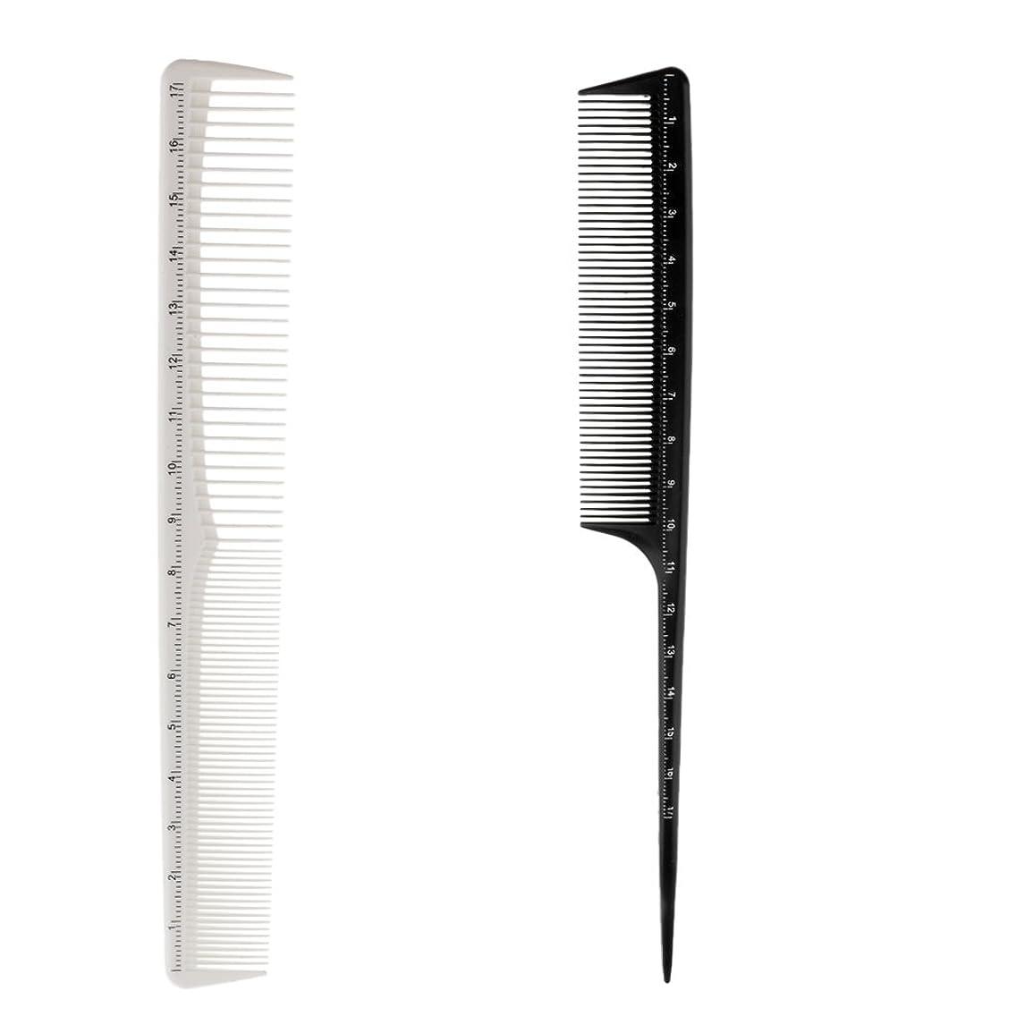 規則性マナーピカリングKesoto 2個 ヘアカットコーム プロ ヘアブラシ ヘアコーム 櫛 コーム ヘアケア ヘアスタイリング 樹脂製 理髪師
