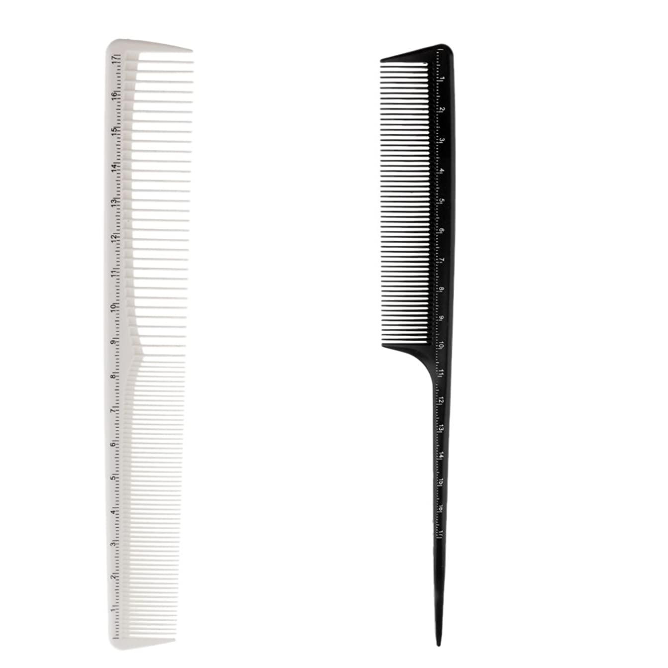 先祖グローバル傾向がありますKesoto 2個 ヘアカットコーム プロ ヘアブラシ ヘアコーム 櫛 コーム ヘアケア ヘアスタイリング 樹脂製 理髪師