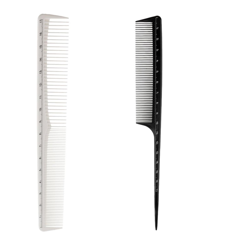 質量エンティティ評価可能Kesoto 2個 ヘアカットコーム プロ ヘアブラシ ヘアコーム 櫛 コーム ヘアケア ヘアスタイリング 樹脂製 理髪師