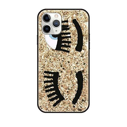 VHR Fundas para Apple iPhone 12 Mini 11 Pro XS MAX X XR 6 6S 7 8 Plus 5 5S Se 2020 Cubierta Negra Ojos Traseros iPhone XS MAX G3