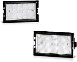 [2-Pieces] VIPMOTOZ Full LED License Plate Light Housing Lamp Assembly Replacement Pair For Land Rover L319 L359 LR2 LR3 LR4 Range Rover Sport L320, 6000K Diamond White