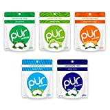 PUR 100% Xylitol Breath Mints, Variety Pack, 20 Count (Pack of 5) Sugar-Free + Aspartame Free, Vegan + non GMO