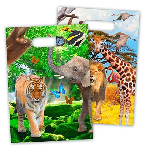 8 Partytüten * Safari & Wilde Tiere * für Party und Geburtstag von FOL