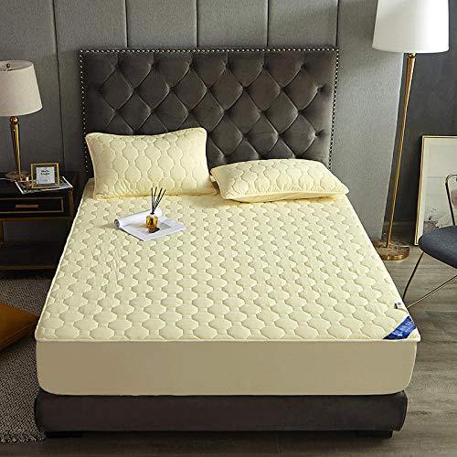 N / A Passt Spannbettlaken,für hohe Matratzen,Einfarbige Gesteppte...