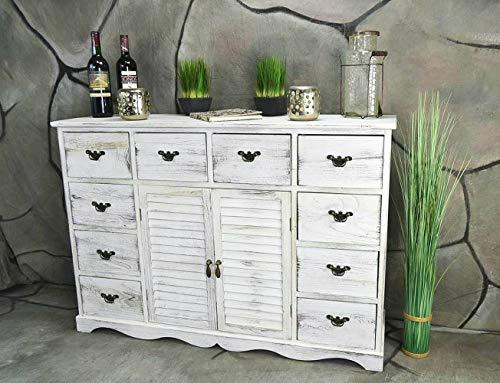 Livitat® Kommode Sideboard 113 x 78 cm Anrichte Landhaus Shabby Chic Vintage LV1005
