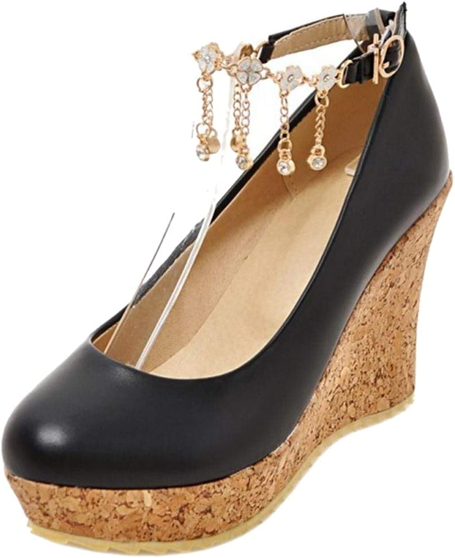 Unm Women's Fashion Wedges Court shoes