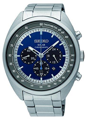 Seiko Herren Chronograph Solar Uhr mit Edelstahl Armband SSC619P1