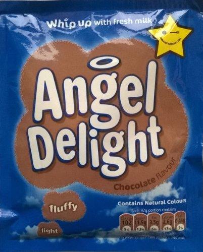 Birds Engel Delight Schokoladengeschmack 6 x 59gm Beutel