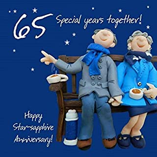 Holy Mackerel 65th Wedding Anniversary Card
