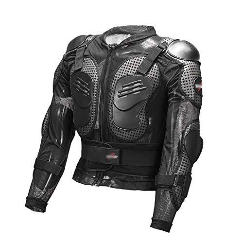 Motorradjacke für Herren, Motorrad Dorsal Schutz Jacke Hochwertig Protektoren Schutzjacke Motocross ATV Protektorenjacke mit Rücken Protektor, für Scooter MTB Enduro (M~3XL) Black,XXL