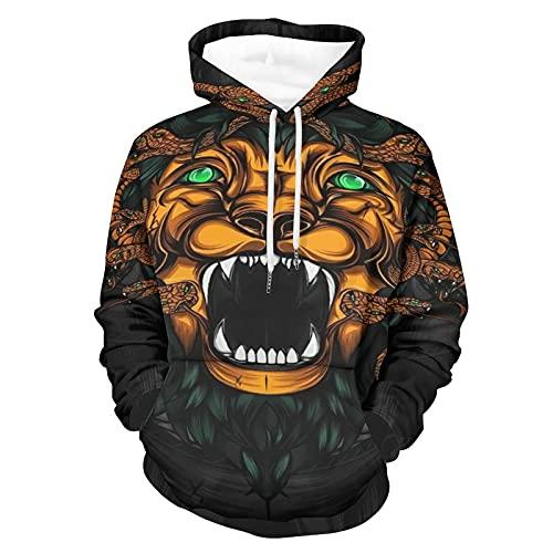 Suéter animado del día de fiesta de los saltadores del león y de las serpientes para los adultos