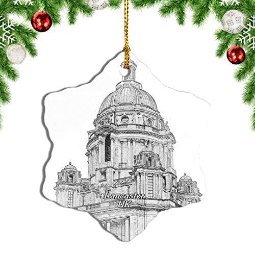 Weekino UK England Lancaster Memorial Park Christmas Ornament Travel Souvenir Tree Hanging Pendant