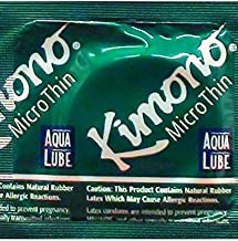 Kimono Microthin with Aqua Lube and Brass Lunamax Pocket Case, Premium Lubricated Latex Condoms-24 Count