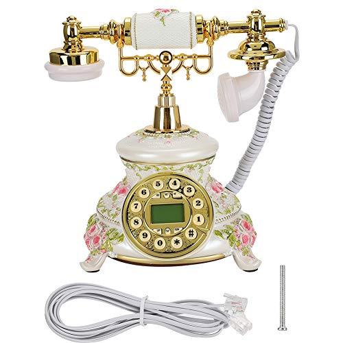 FSK/DTMF Nummerherkenning Automatische detectie Achtergrondverlichting IP Retro telefoon Antieke telefoon Vintage vaste telefoon met elektronische kalender/datum/klok/weekweergave Slaapkamer Hotel