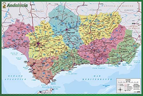 ERIK - Lámina didáctica mapa de Andalucía
