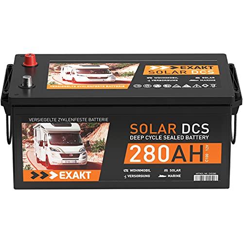Solarbatterie 12V EXAKT DCS Wohnmobil Versorgung Boot Solar Batterie (280AH 12V)