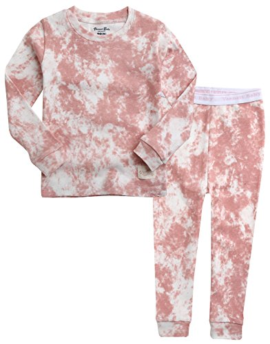 VAENAIT BABY Kids Girls 100% Cotton Sleepwear Pajamas 2pcs Set Prism Pink XS