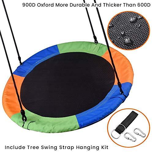 NZBⓇ Schaukel Haushalt Runde Kinderschaukel Innenschaukel Verstellbares Seil Outdoor-Spielplatzgeräte Gartenschaukel Geeignet für Kinder