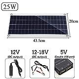 12V 25W Solarmodul Tragbares Solarpanel Flexible Solarzellen