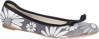 Marc Jacobs Women's Gray Floral Print Canvas Ballerina Flats Shoes