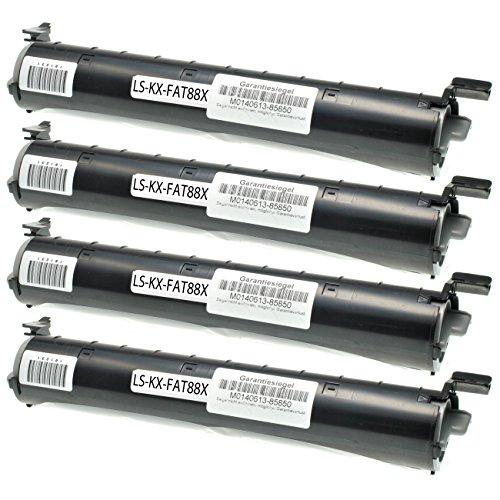 4 Toner kompatibel für Panasonix KX-FL 401 GW 402 403 411 412 413 421 GW 432 - KX-FA88X - Schwarz je 2000 Seiten