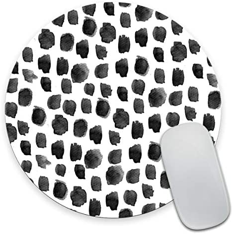 Smooffly Polka Dot Mouse Pad Polka Dot Print Dot Pattern Gift for Her Cute Round Mousepad Cute product image