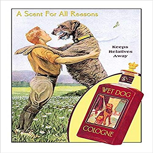 Buyenlarge 0-587-14902-7-C2030 Wet Dog Cologne: A Scent for All Reasons Gallery Wrapped Canvas Print, 20