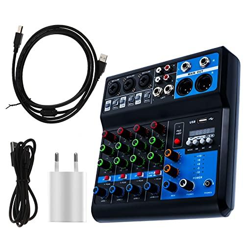 Generic Mezclador de Audio de Tarjetas de Sonido en Profesional Procesador de Voz de 5 Vías Cambiador de Voz de Transmisión en Mezclador de Audio Mezclador de Sonido Streaming