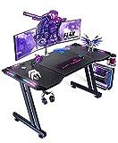 新開発作品 LEDゲーミングデスク ゲームデスク イヤホンホルダー カップホルダー デスク モニターアーム対応 耐荷重150kg 机 頑丈なフレーム 幅120cm 奥行60cm 2年保証