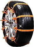 MSMOTO Bridas Antideslizantes para vehículos portátiles nuevos, Cadenas de Nieve universales Ajustables de Nailon para Bridas, Cadenas para Ruedas de neumáticos para un Ancho de 145-295 mm